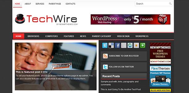 Download Tema WordPress TechWire Grátis