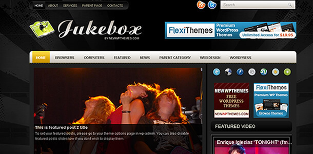 Download Tema WordPress Jukebox