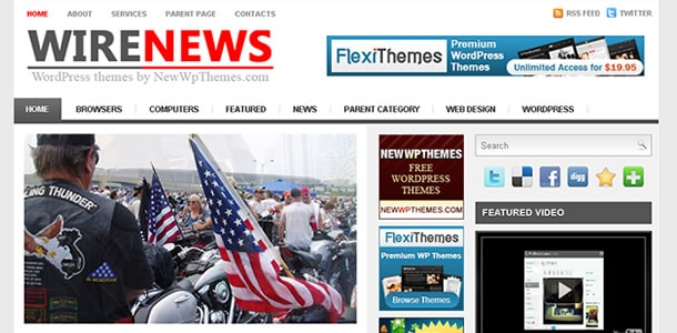 Download Tema WordPress Wire News