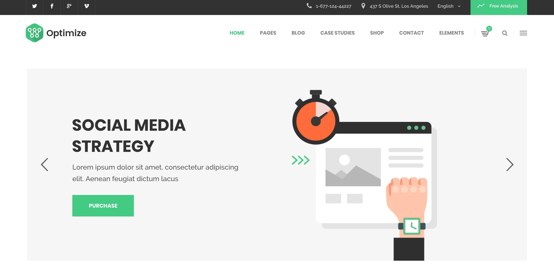 Tema WordPress Optimize